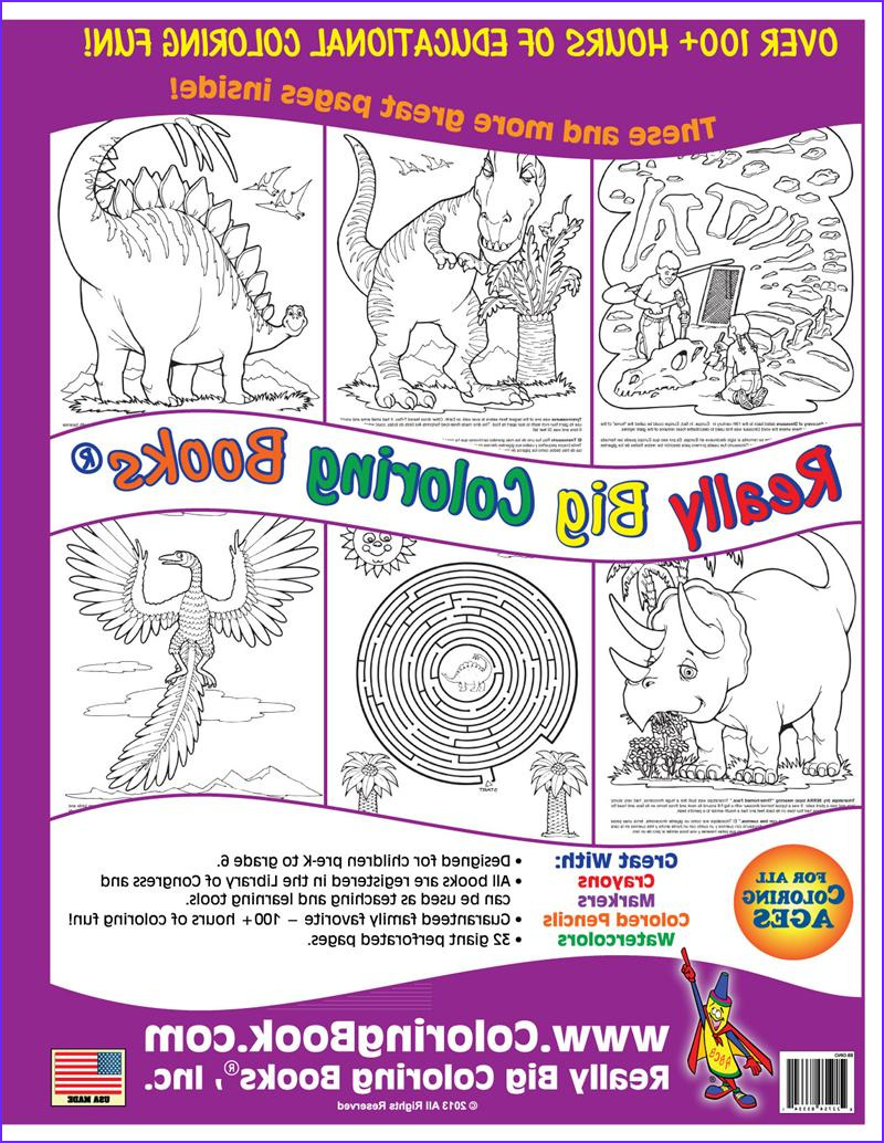 dinosaurs giant coloring books