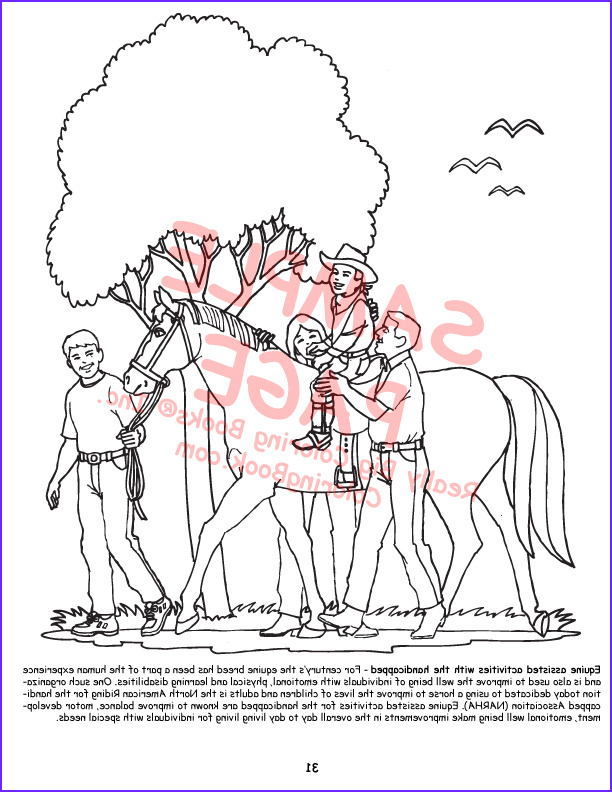horses giant coloring books
