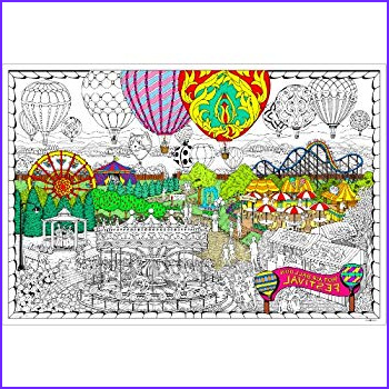 Giant Coloring Posters New Images Amazon Balloon Festival Giant Wall Size Coloring