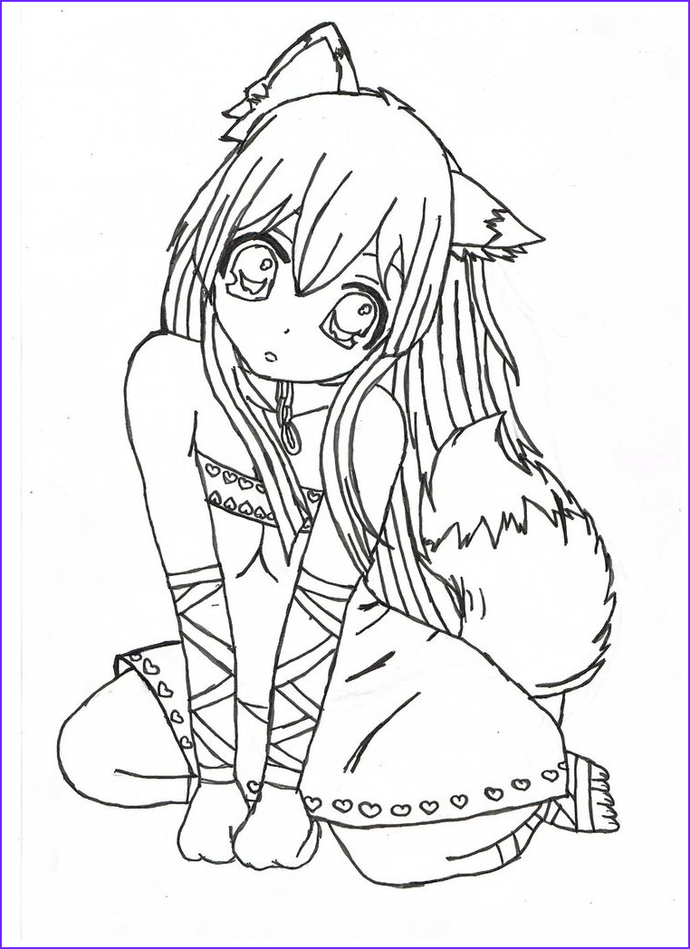 Anime Girl Coloring Pages coloringsuite