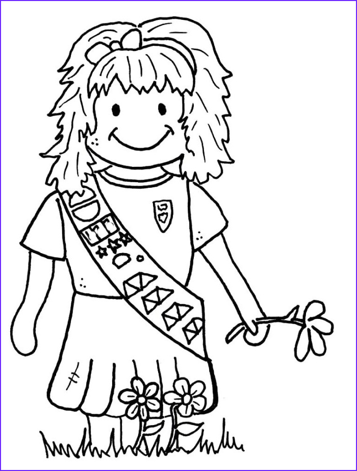 Girl Scouts Coloring Cool Photography Girl Scouts Coloring Pages Az Coloring Pages