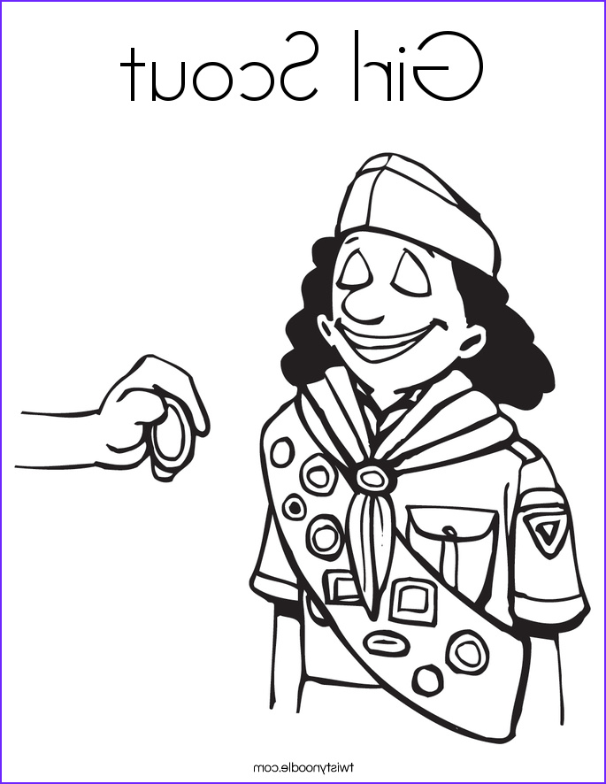 Girl Scouts Coloring New Photography Junior Girl Scout Coloring Pages Sketch Coloring Page
