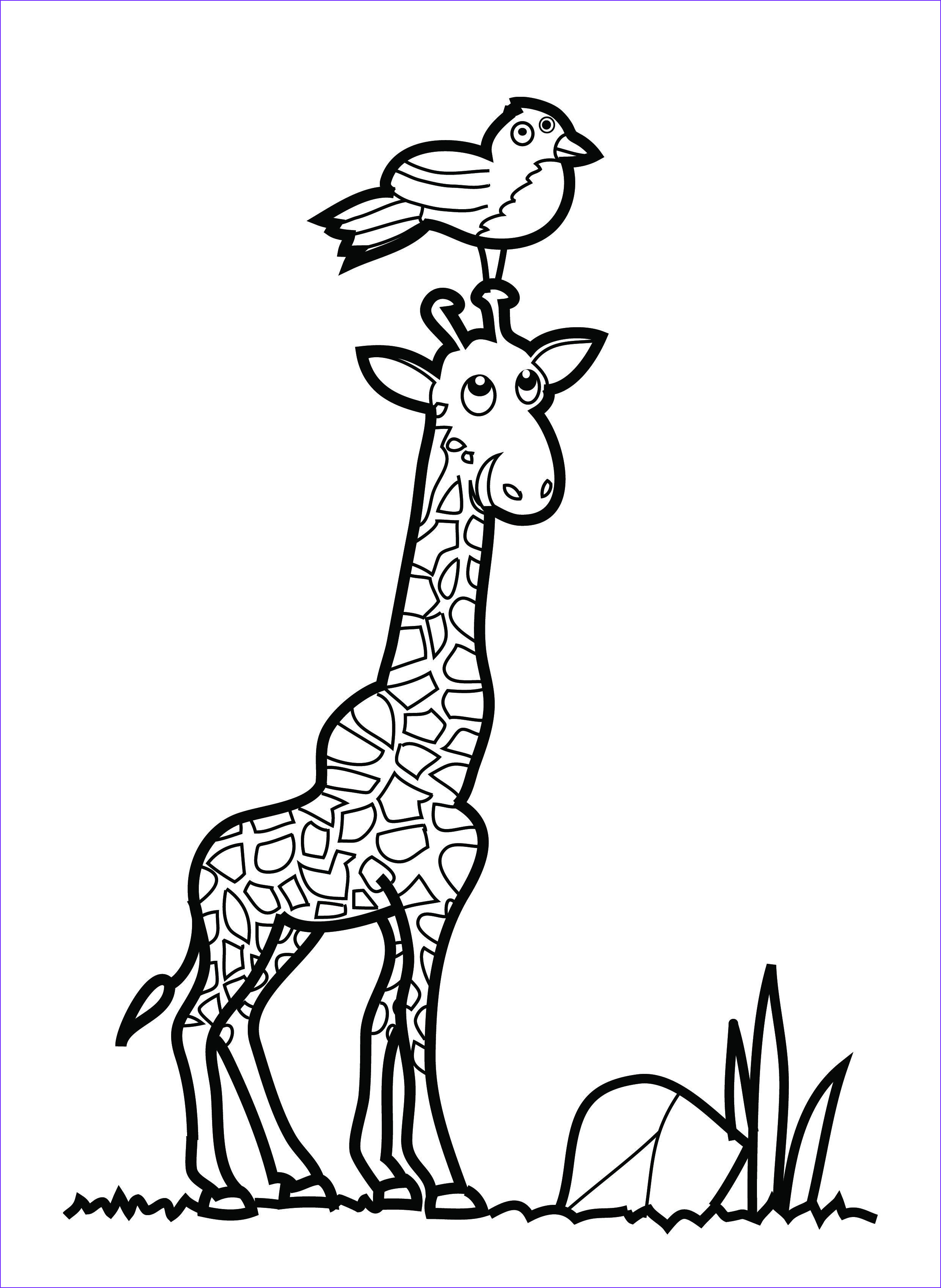 Girraffe Coloring Awesome Stock Free Printable Giraffe Coloring Pages for Kids