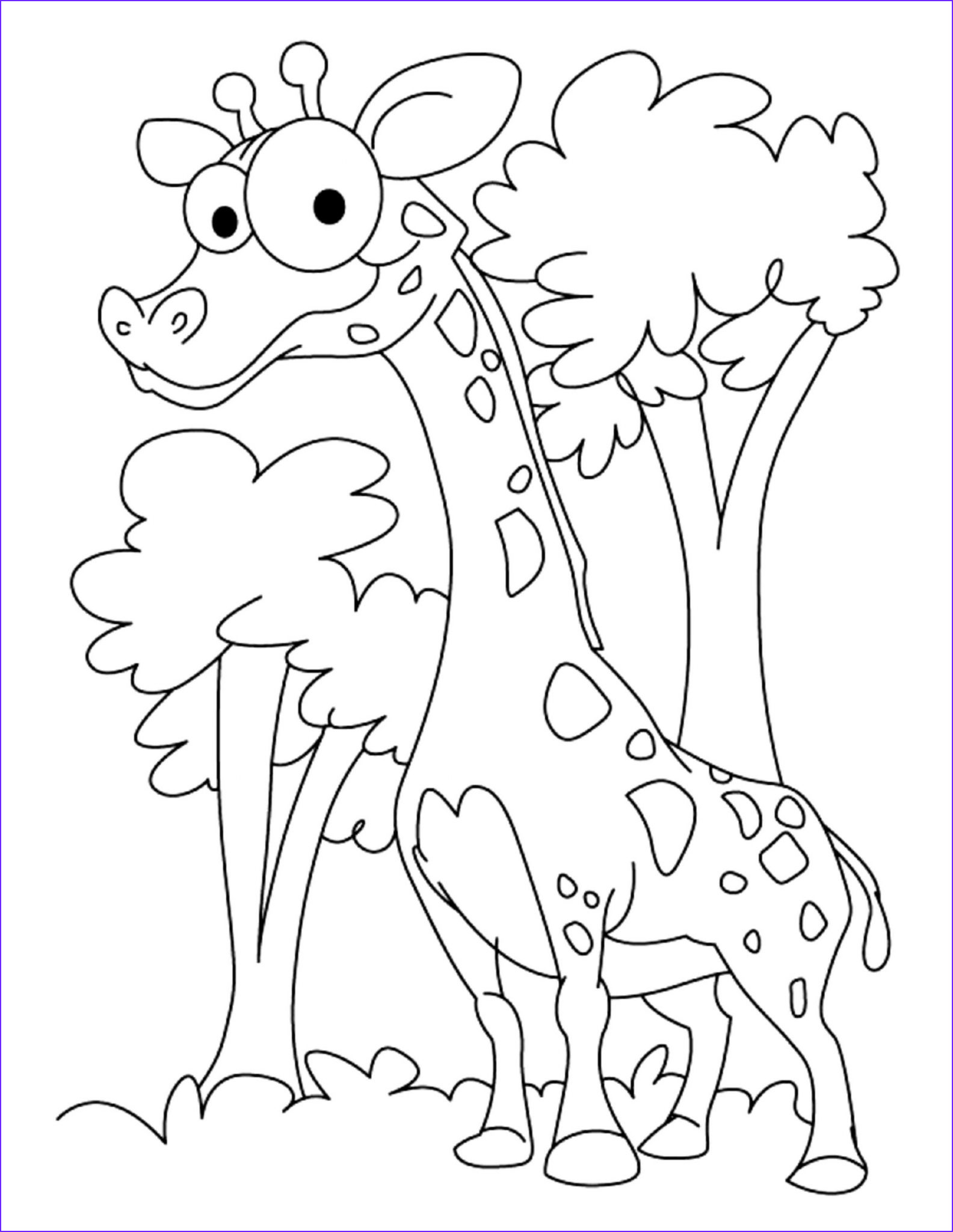 Girraffe Coloring Best Of Photos Print & Download Giraffe Coloring Pages for Kids to Have Fun