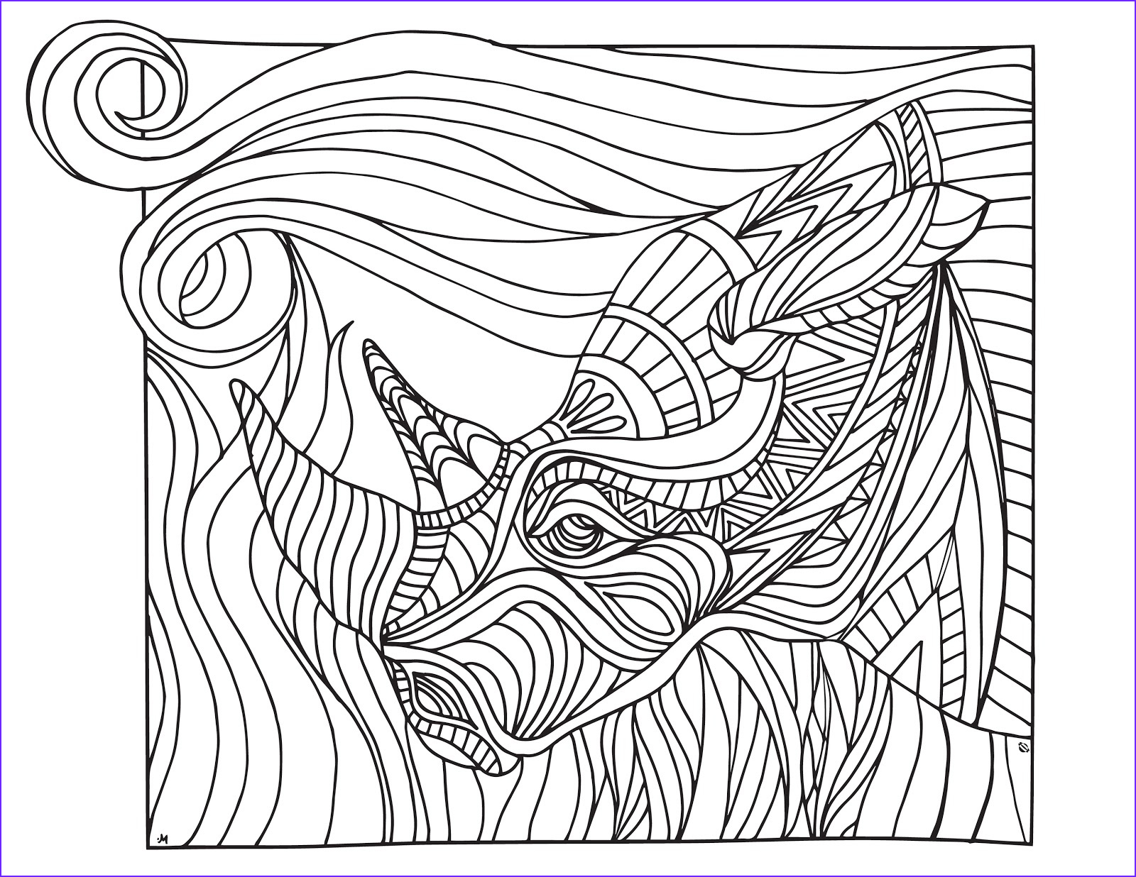 Grown Up Coloring Pages New Photography Lostbumblebee Grown Up Colouring Rhino