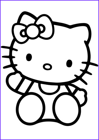 Hello Kitty Coloring Pages Awesome Image Hello Kitty Coloring Page
