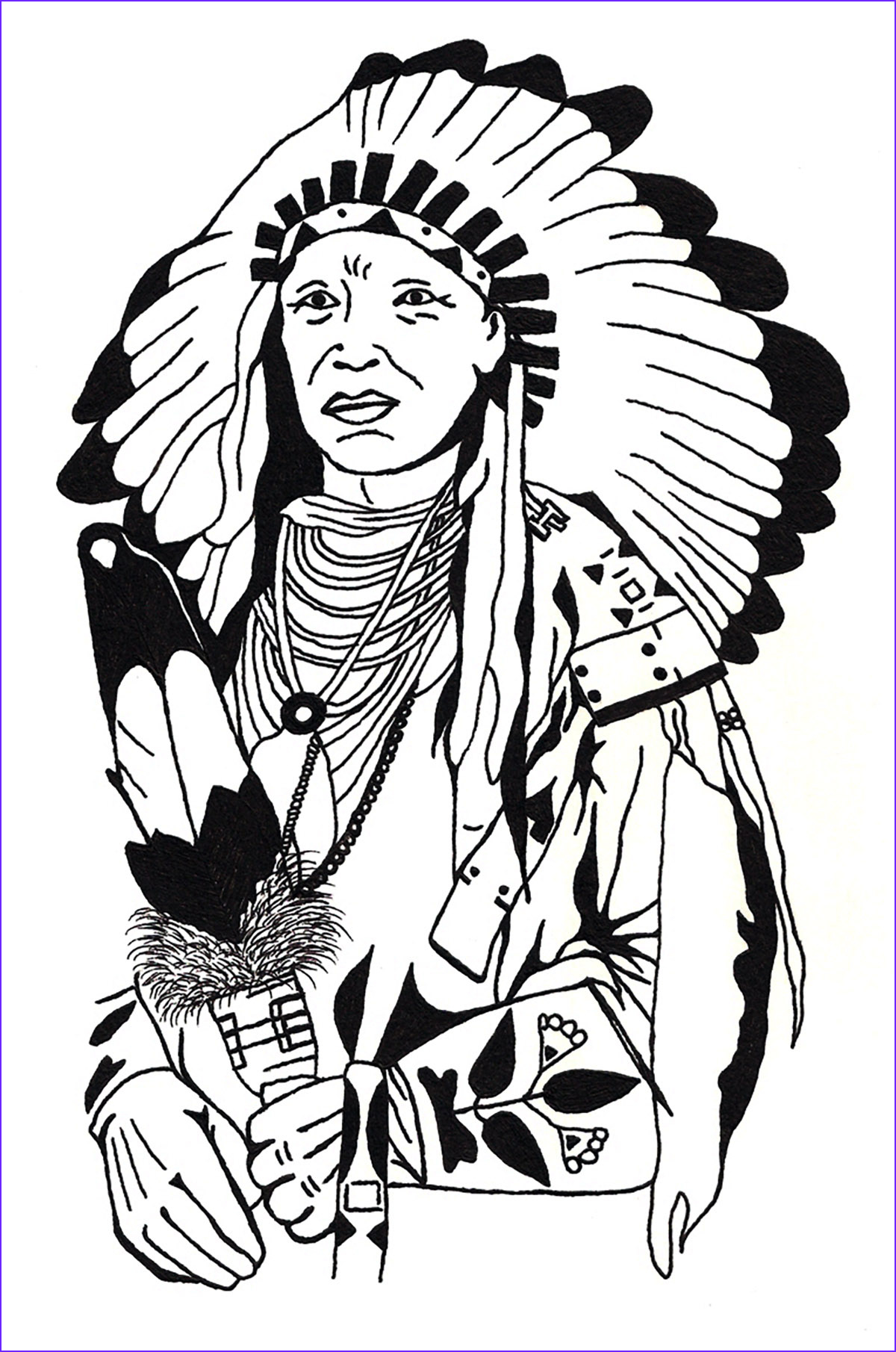 Indian Coloring Book Beautiful Gallery Drawing Native American Native American Adult Coloring Pages