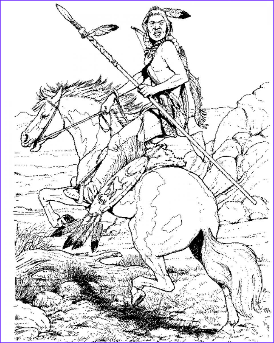 Indian Coloring Book Best Of Collection Native American Chief Drawing at Getdrawings