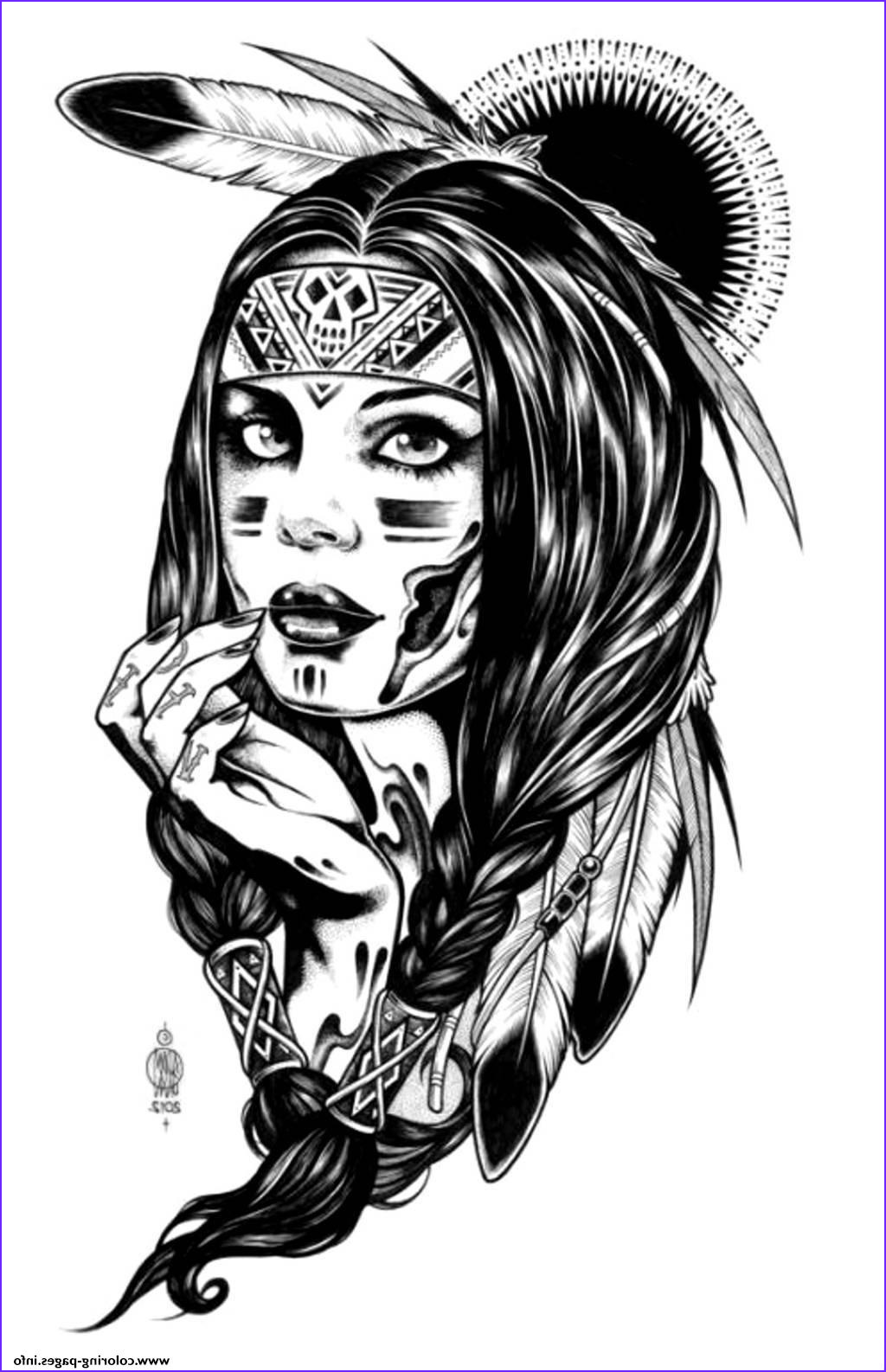 Indian Coloring Book Inspirational Photos Adult Native Indian American Woman Coloring Pages Printable