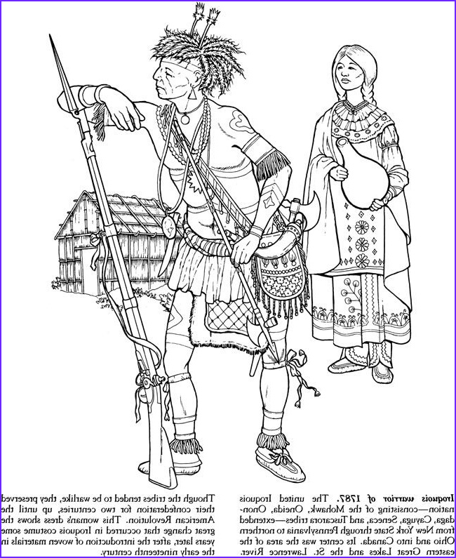 Indian Tribes of North America Coloring Book Dover