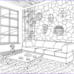 Interior Design Coloring Book Cool Gallery Living Room In African Style Coloring Page