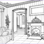 Interior Design Coloring Book Inspirational Photography Fireplace Room Coloring Page