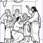 Jesus Healing Coloring Page Awesome Photos Jesus Heals The Paralytic Man Colouring Sheet