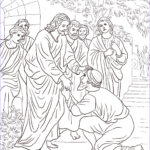 Jesus Healing Coloring Page Cool Gallery Jesus Heals The Leper Coloring Page