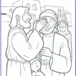 Jesus Healing Coloring Page Luxury Photos Jesus Heals A Blind Man John 9 Colouring Pages