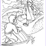 Jesus Walking On Water Coloring Page Awesome Photos Peter Walks Water Coloring Pages Coloring Home