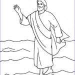 Jesus Walking On Water Coloring Page Beautiful Image Jesus Christ Coloring Pages