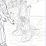 Jesus Walking On Water Coloring Page Unique Collection Peter Walks On The Water Coloring Page