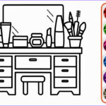 Kids Coloring Table Inspirational Photos How To Draw Makeup Table And Coloring Pages For Kids With