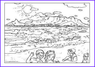 Kids Coloring Table New Collection Table Mountain Colouring Page