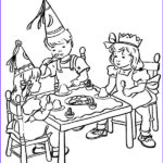 Kids Coloring Table New Images Kids Gather On Table At Birthday Party Coloring Pages Netart