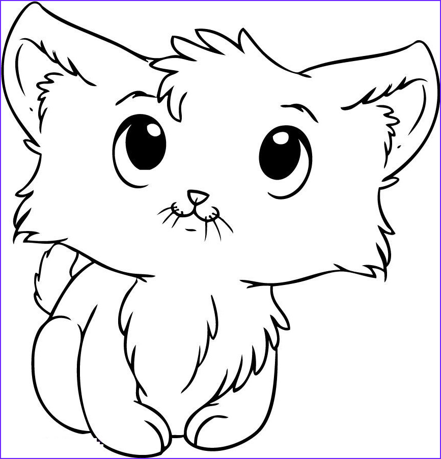 Kitty Cat Coloring Pages Cool Image Kitten Coloring Pages Best Coloring Pages for Kids
