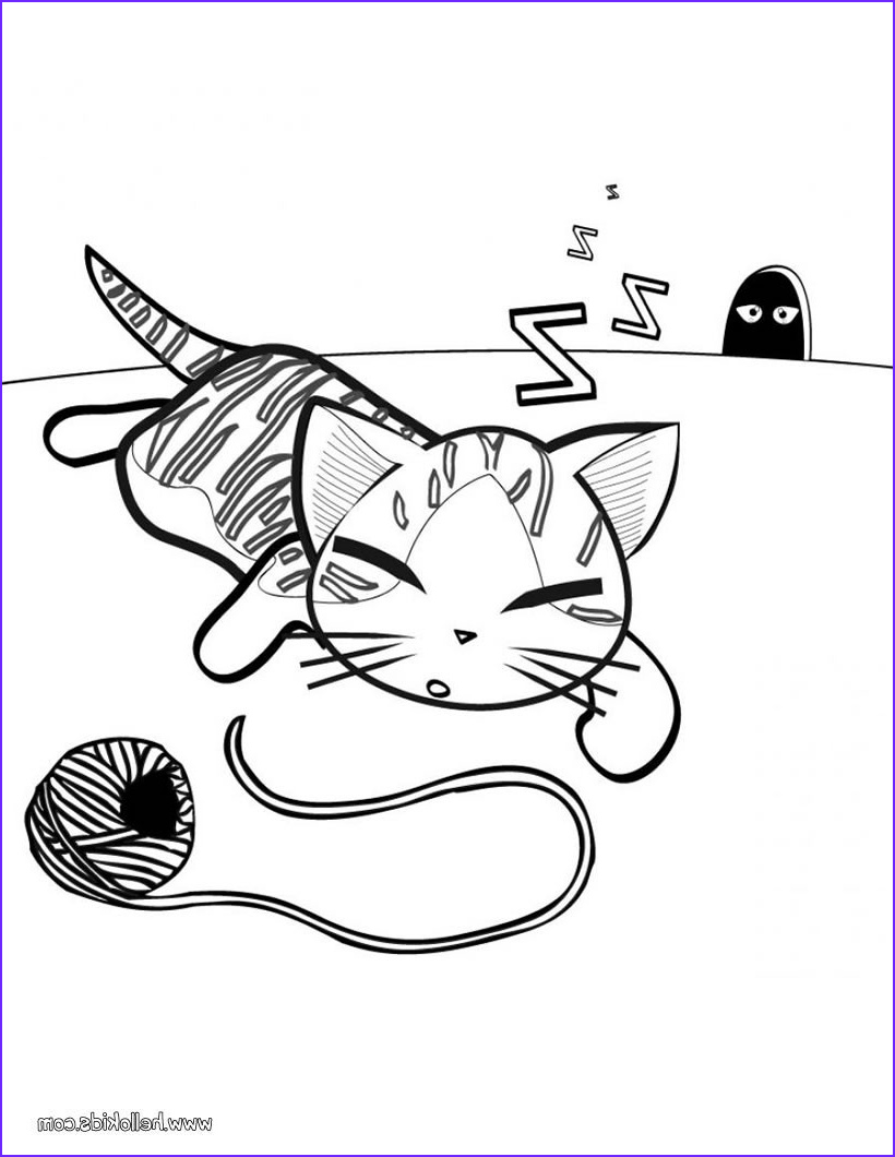 Kitty Cat Coloring Pages Luxury Photos Cute Kitten Coloring Pages Hellokids