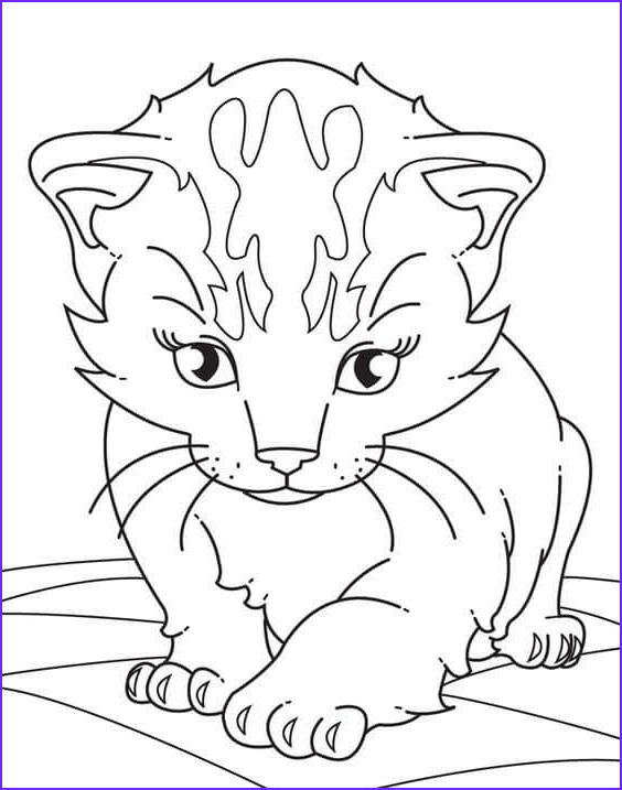 Kitty Cat Coloring Pages New Photos 30 Free Printable Kitten Coloring Pages Kitty Coloring