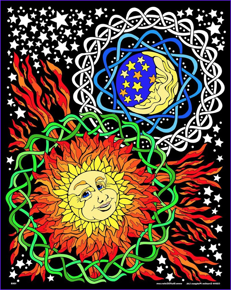 Large Coloring Posters Elegant Image Sun Moon 16x20 Inch Fuzzy Velvet Coloring Poster