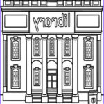 Library Coloring Pages Awesome Collection Library Building Coloring Pages Library Building Coloring