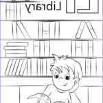 Library Coloring Pages Cool Photos Letter L Is For Library Coloring Page