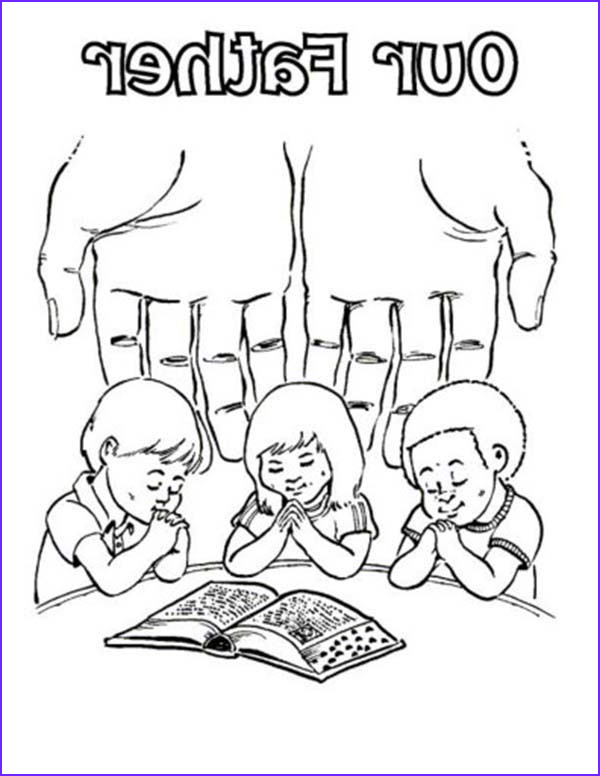 Lords Prayer Coloring Page Inspirational Gallery Our Father Lords Prayer Coloring Page Coloring Sky