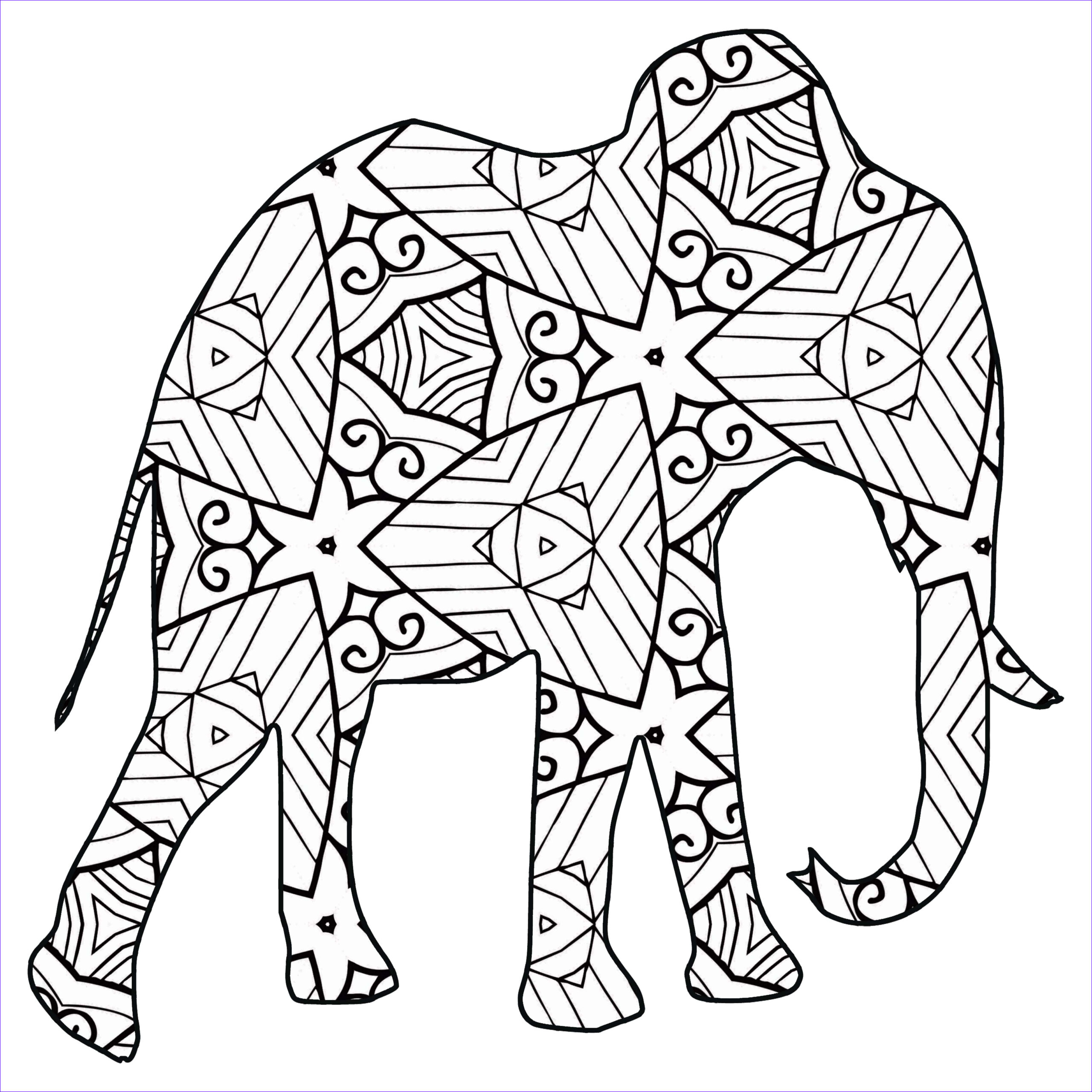 Mammal Coloring Pages Luxury Photos 30 Free Printable Geometric Animal Coloring Pages