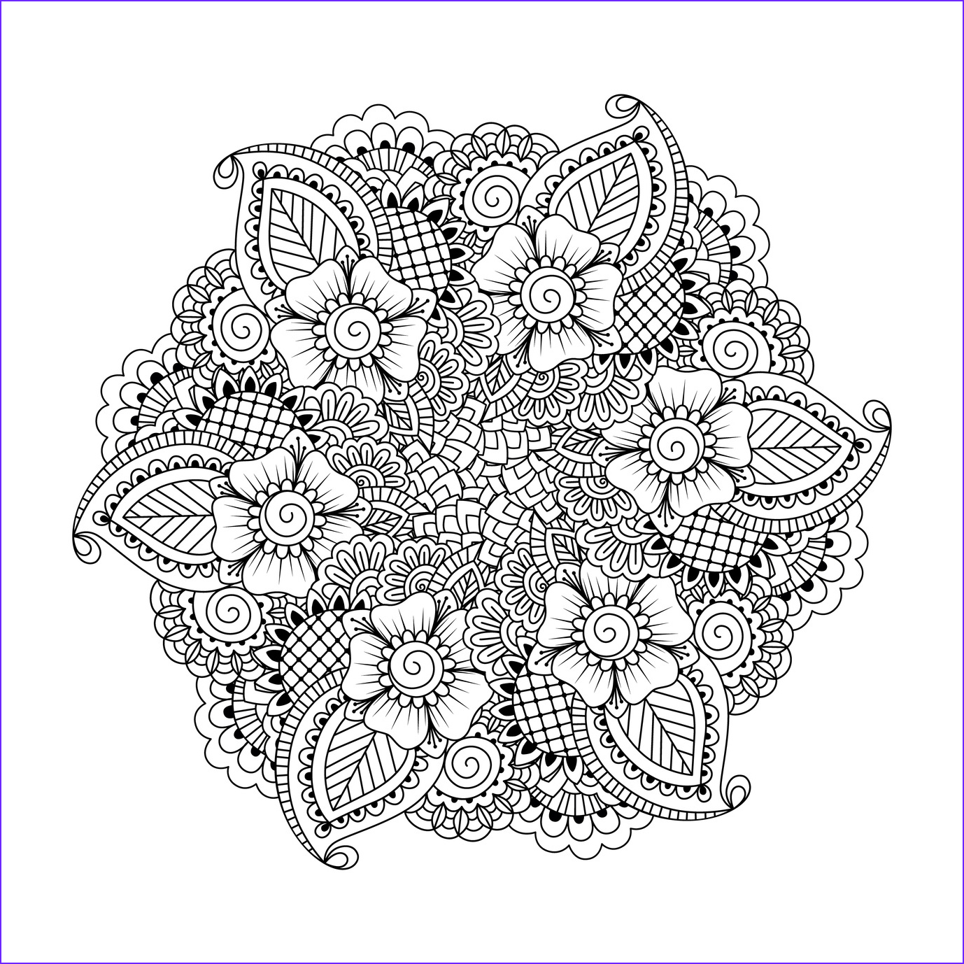 Mandala Adult Coloring Books Beautiful Images 63 Adult Coloring Pages to Nourish Your Mental Visual
