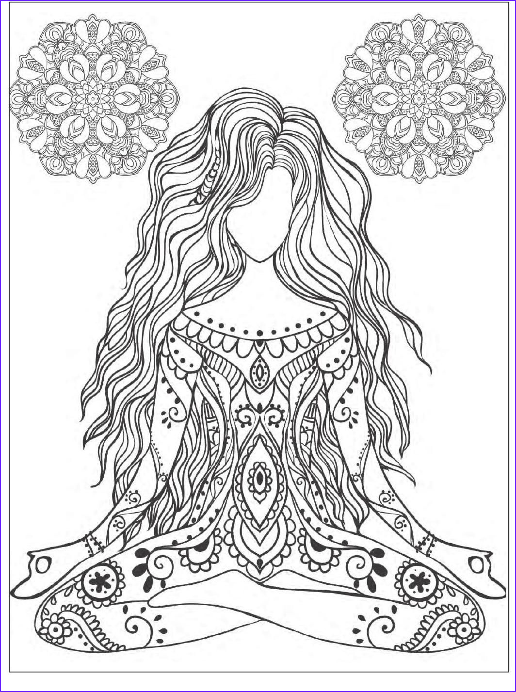 Mandala Adult Coloring Books Beautiful Photos Yoga and Meditation Coloring Book for Adults with Yoga