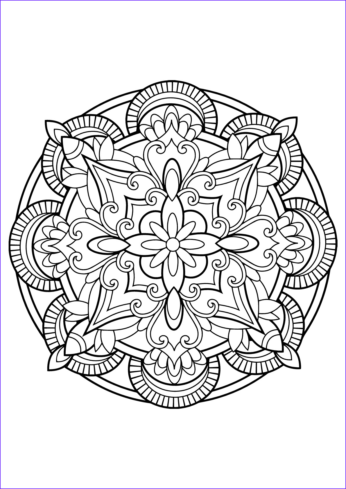 Mandala from free coloring books for adults 23 M&alas
