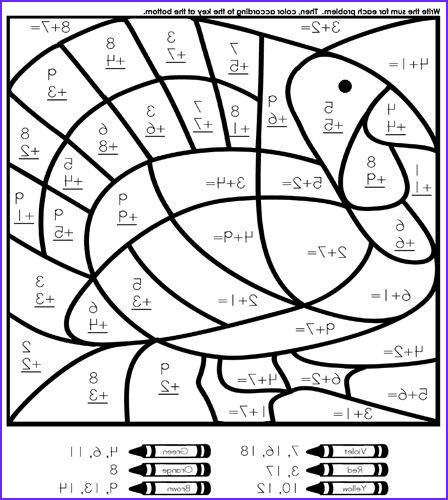 Math Coloring Sheets 2nd Grade Awesome Image Our Favorite Sites for Thanksgiving Coloring Pages