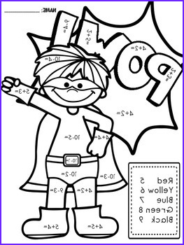 Superhero Color by Number Math Facts by Life is Great in