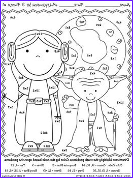 Math Coloring Worksheets 2nd Grade Beautiful Stock Multiplication May the Facts Be with You 2 2nd Set Of