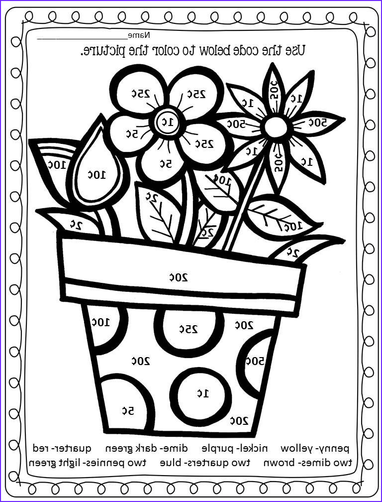 Color By Number Spring Math Worksheet Double