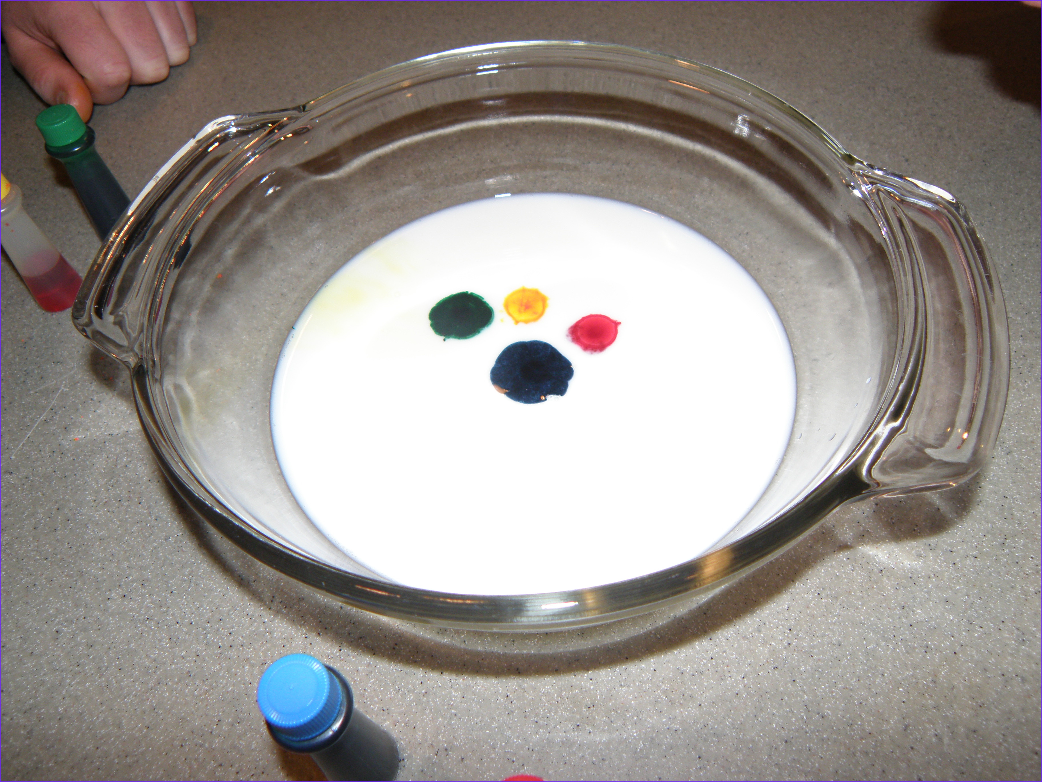 Milk Food Coloring and Dish soap Experiment Beautiful Image Milk & soap Science Experiment