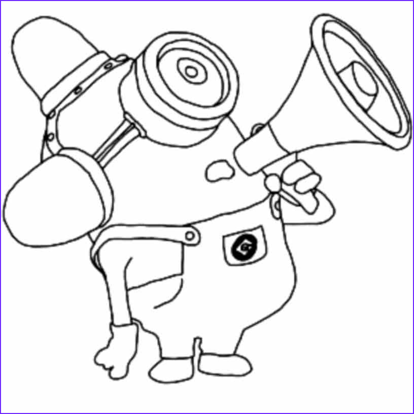 Minions Coloring Sheet Beautiful Image Print & Download Minion Coloring Pages for Kids to Have