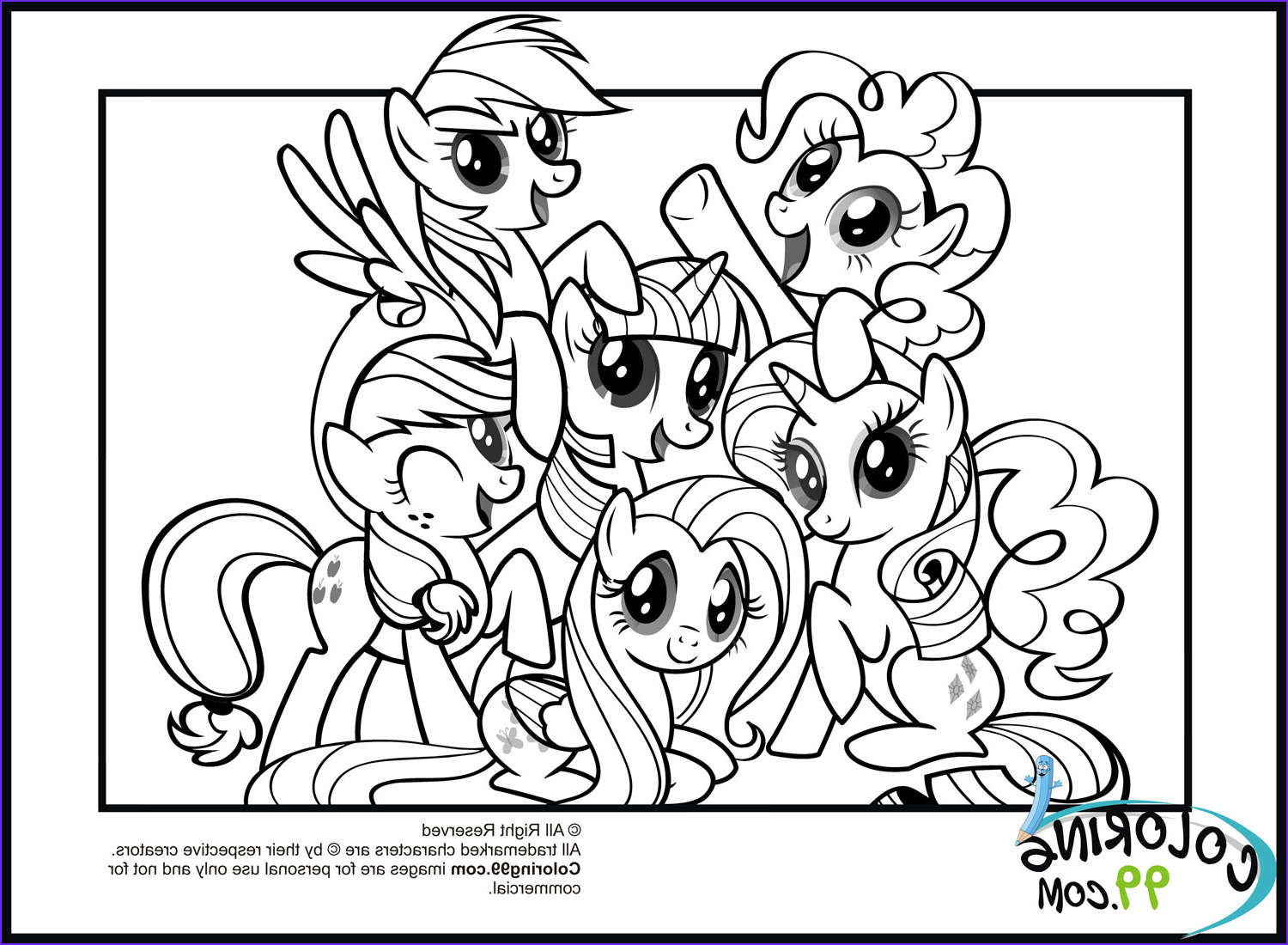 my little pony coloring pages a4 12 image