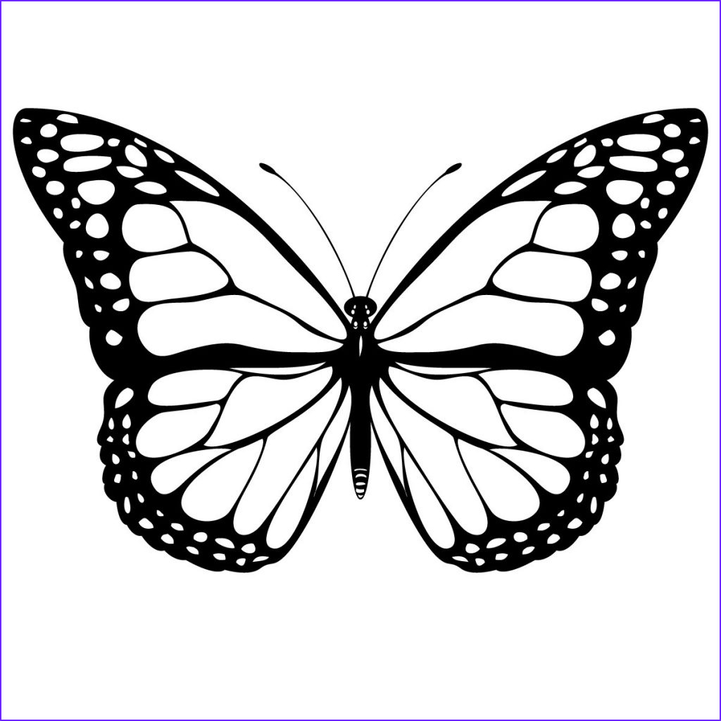 Monarch butterfly Coloring Page Beautiful Photos Free Printable butterfly Coloring Pages for Kids