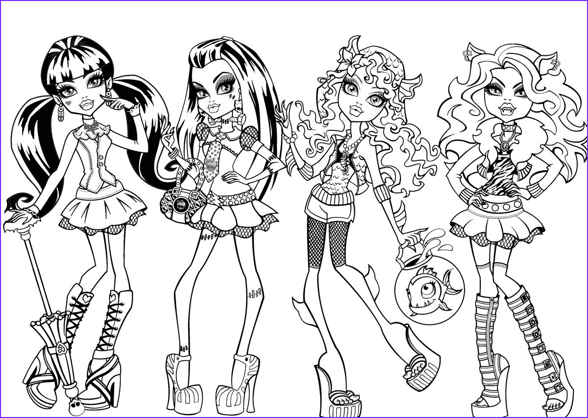 Elissabat Monster High Coloring Pages Coloring Pages