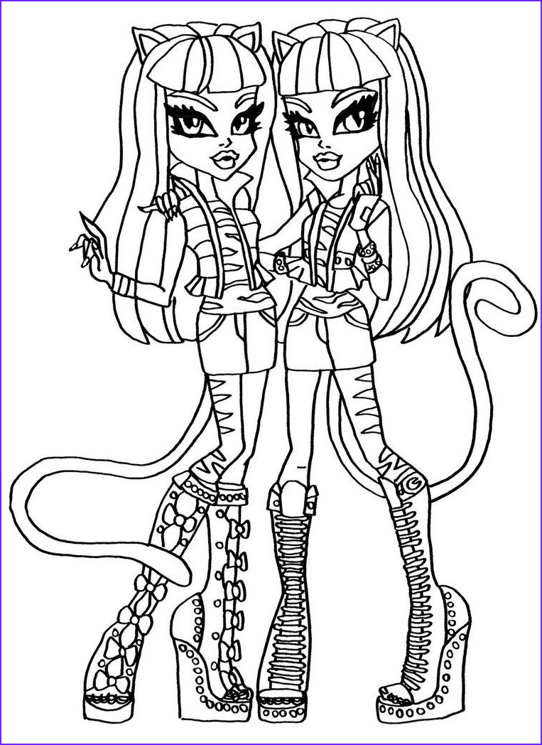 Monster High Coloring Pages Beautiful Photos Purrsephone & Meowlody Monster High Coloring Page
