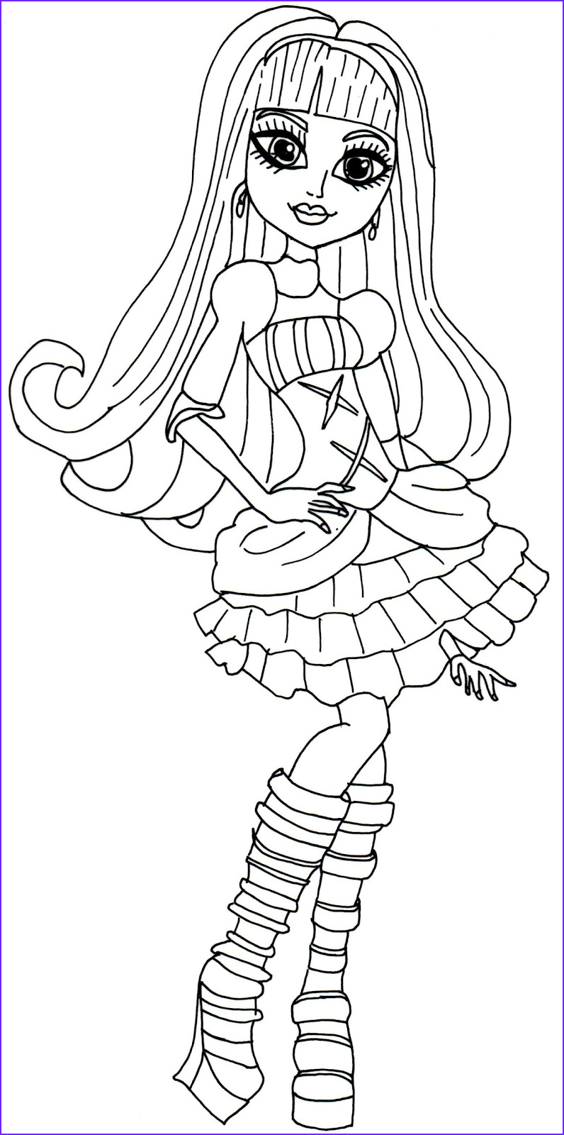 Monster High Coloring Pages Cool Photos Free Printable Monster High Coloring Pages December 2013