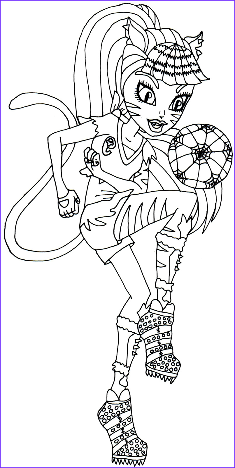 Free Printable Monster High Coloring Pages Toralei Stripe