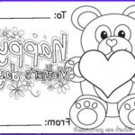 Mothers Day Coloring Card Beautiful Photos Free Printable Happy Mothers Day Teddy Bear Card Coloring