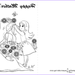 Mothers Day Coloring Card Cool Collection Happy Mother S Day Card Coloring Page